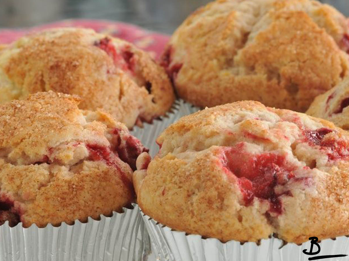 Muffin strawberry