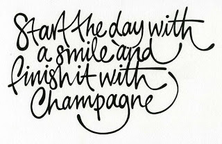 smiles and champagne